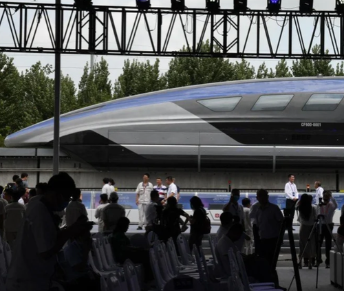 China Unveils World's Fastest Maglev Bullet Train