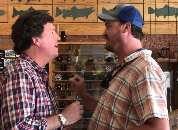 'You're the Worst Human Being Known to Mankind' – Crazy Leftist Gets in Tucker Carlson's Face at Fly Fishing Shop (VIDEO)